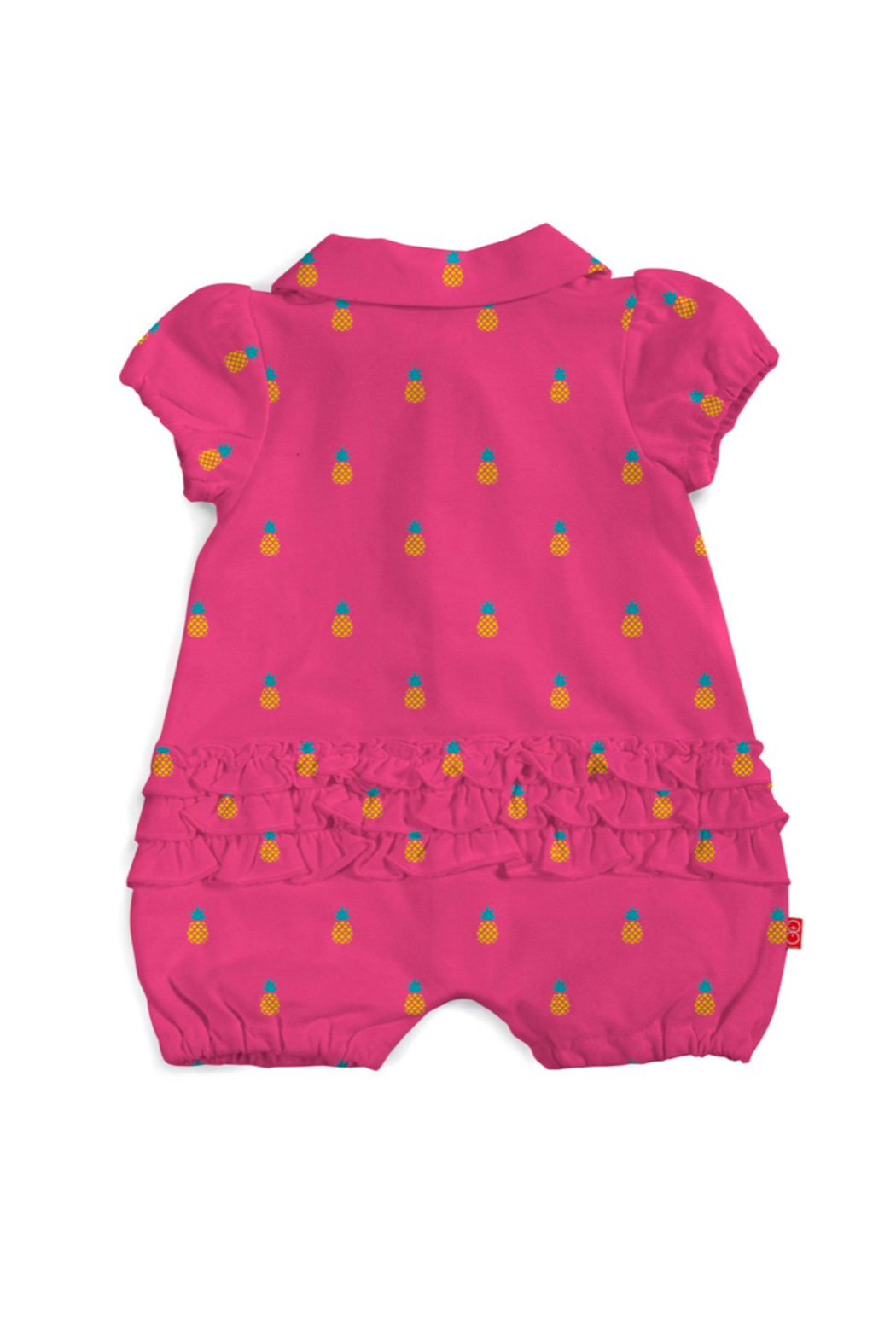 Magnetic Me Magnetic Pineapples Polo Romper - Front Full Image