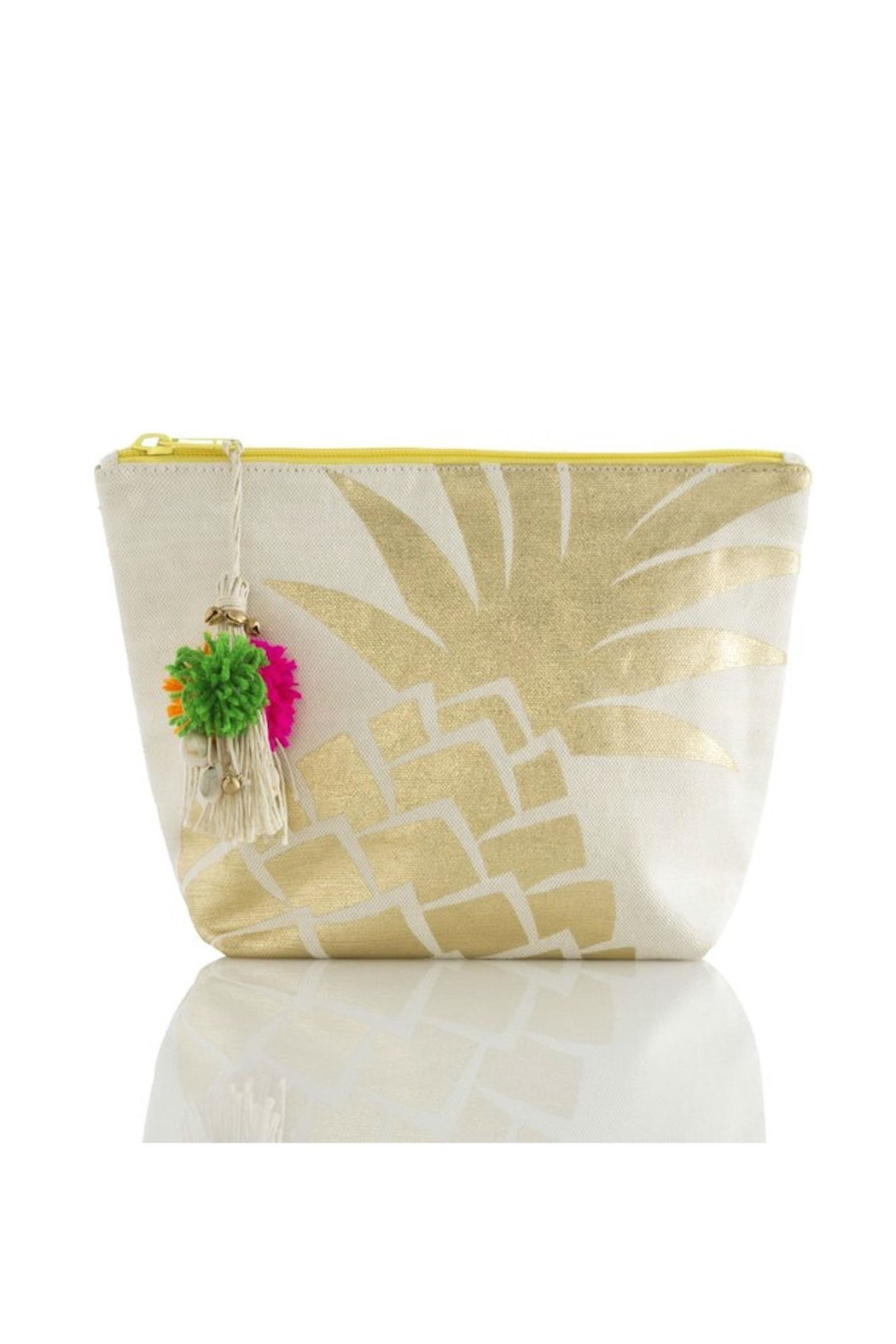 Shiraleah Pineappple Cosmetic Bag - Front Cropped Image