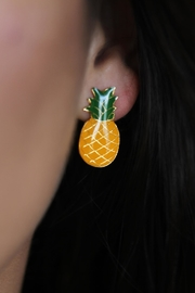 Mayes Accesorios Pinepple Resin Earrings - Front cropped
