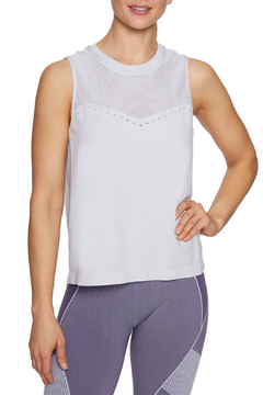 Betsey Johnson Pinhole Mesh Seamless Tank Top - Product List Image