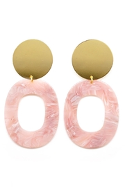 One Story Pink Acrylic Earrings - Front cropped