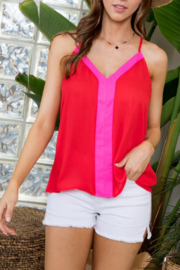 Main Strip Pink and Red Cami - Product Mini Image
