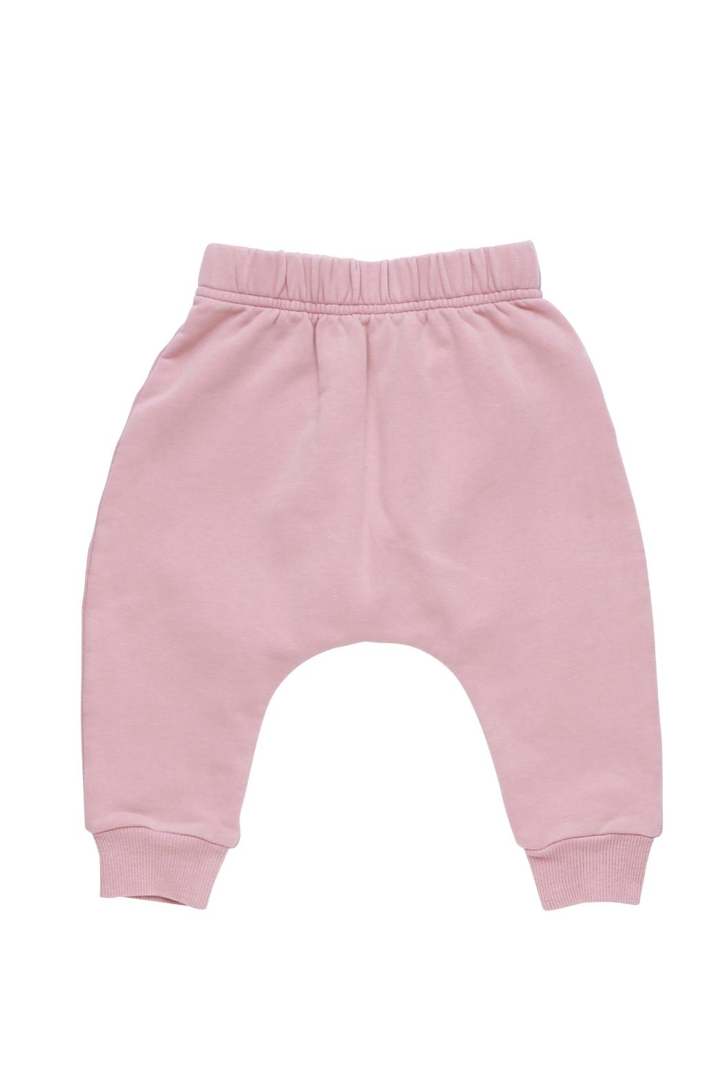 Rock Your Baby Pink Baby Trousers - Front Cropped Image