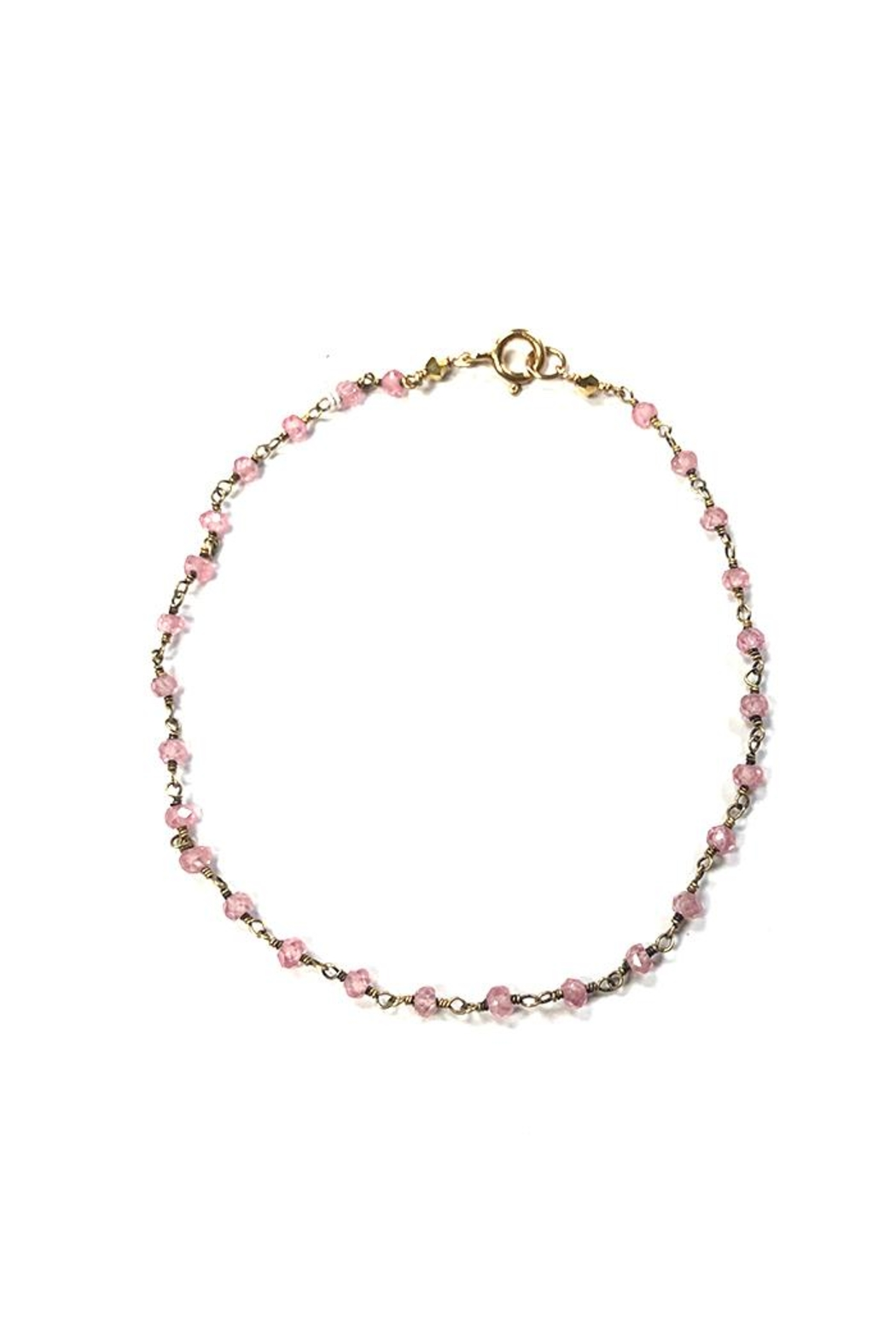 Lets Accessorize Pink Beaded Anklet - Main Image