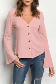 fashion on earth Pink Bell Sleeves Top - Product Mini Image