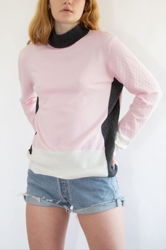Shoptiques Product: Pink Block Sweater
