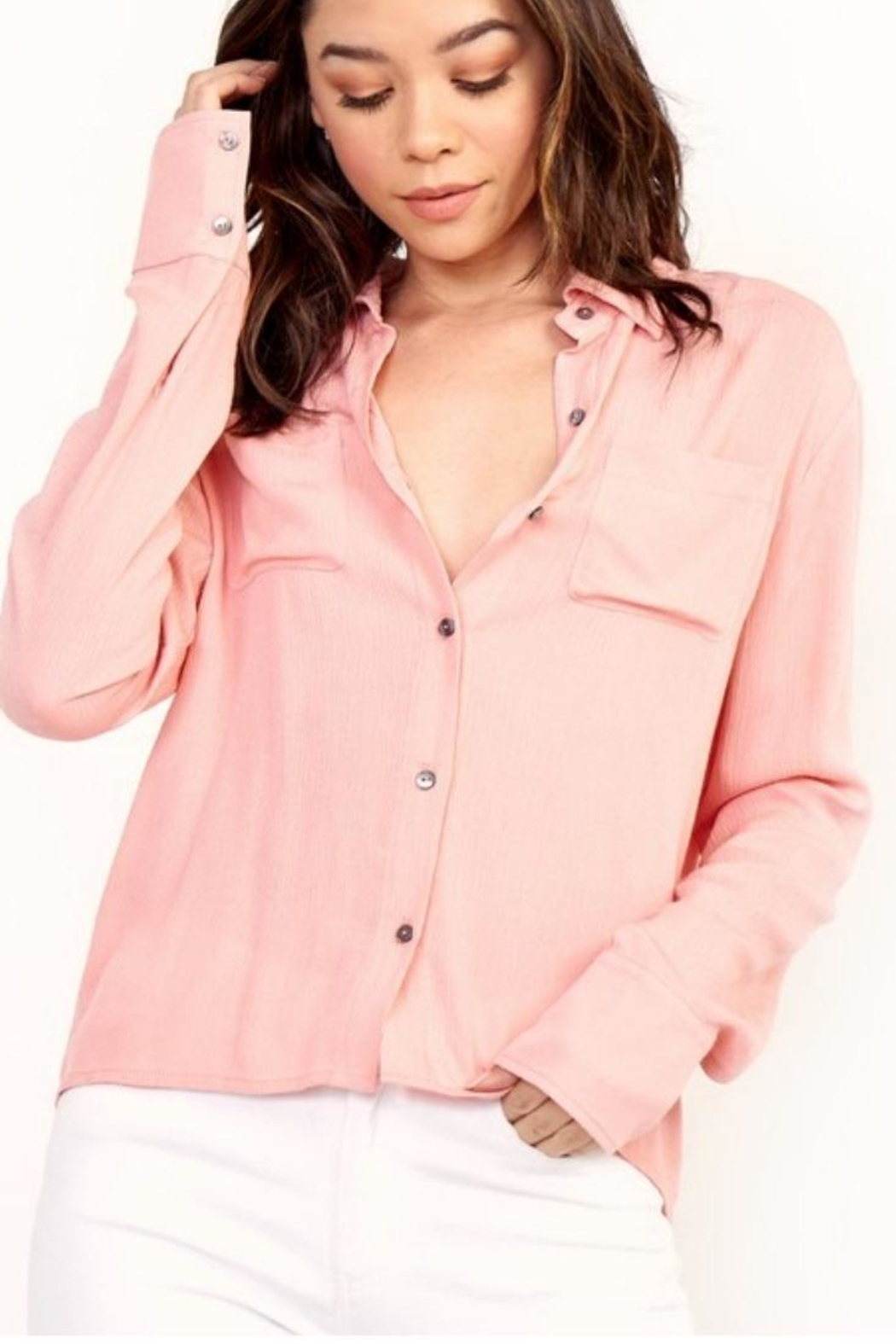 Olivaceous Pink Blouse - Main Image