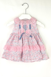 Dolce Petit Pink & Blue Dress - Front cropped