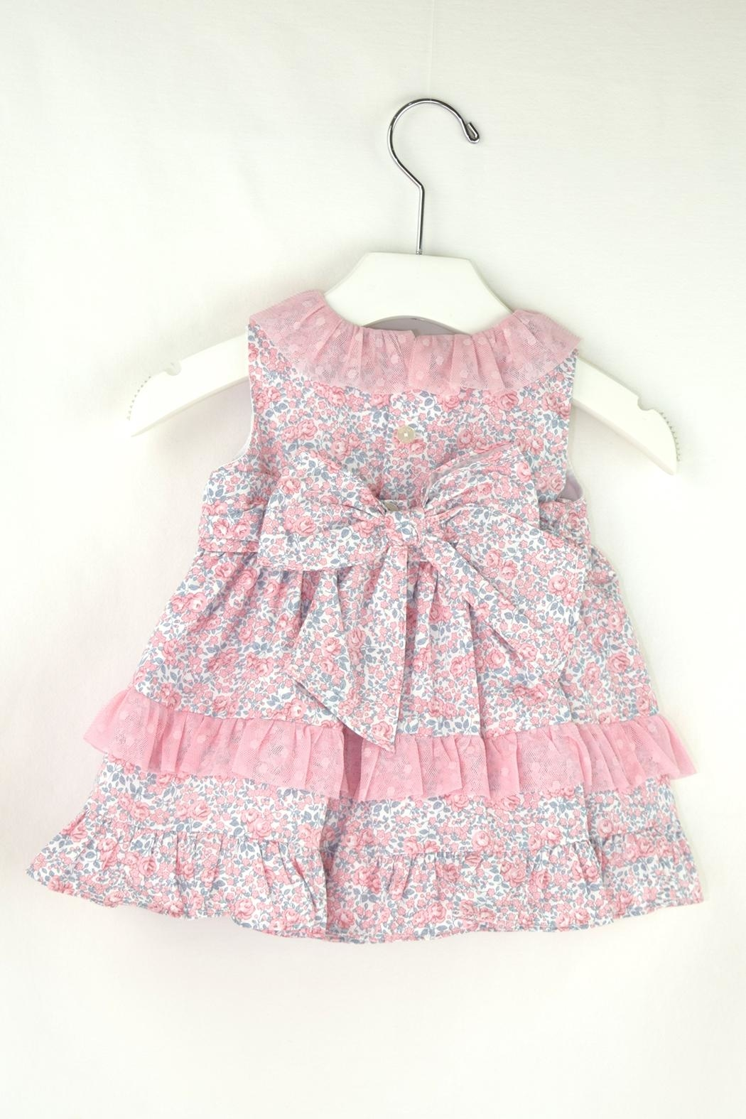 Dolce Petit Pink & Blue Dress - Front Full Image