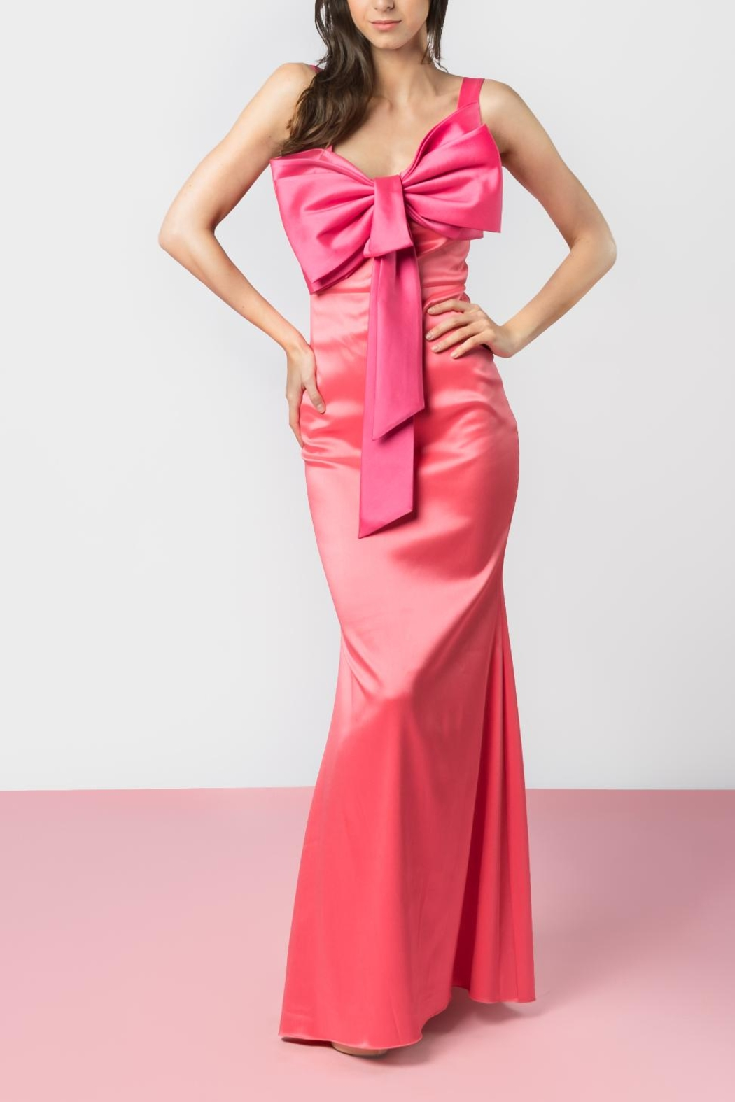Badgley Mischka Pink Bow Dress from Monterrey by Mona Mour — Shoptiques