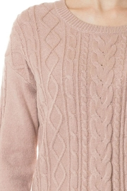 Love Tree Pink Cable-Knit Sweater - Product Mini Image