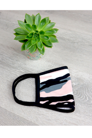 ... Pink Camo Face Mask - Front full body