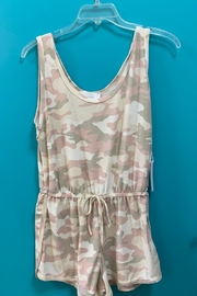 Six Fifty Pink Camo Romper - Front cropped