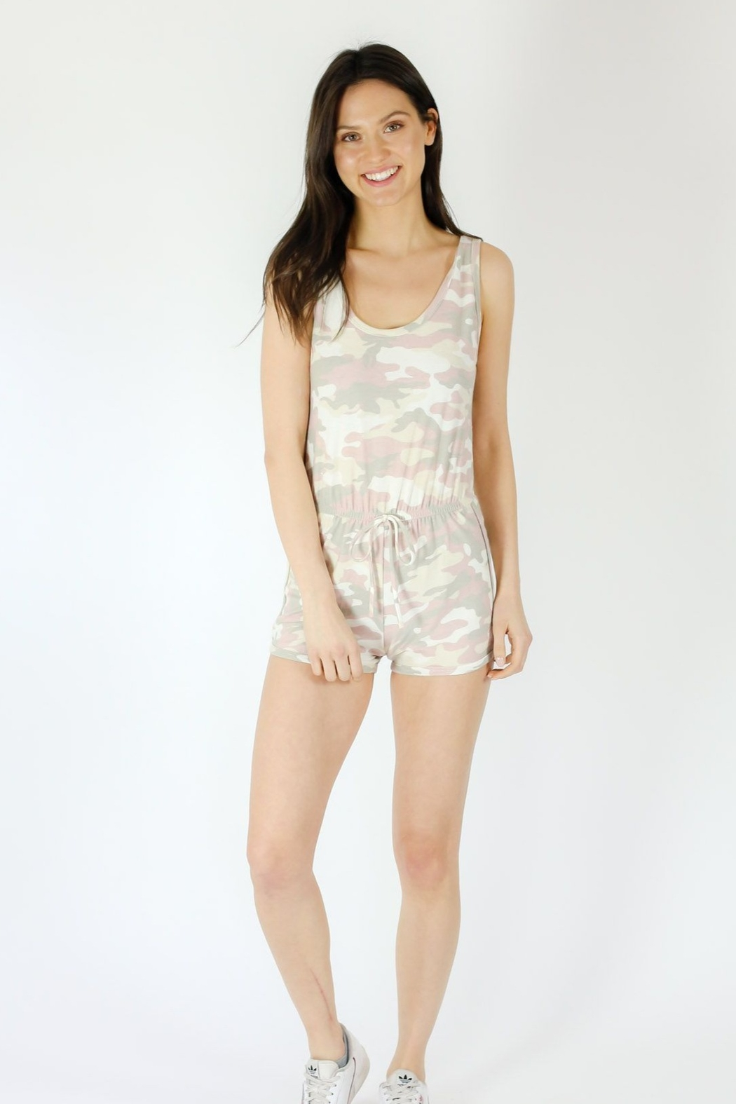 Six Fifty Pink Camo Romper - Side Cropped Image