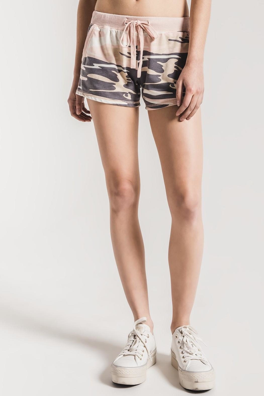 z supply Pink Camo Shorts - Front Full Image