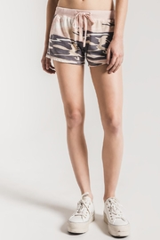 z supply Pink Camo Shorts - Front full body