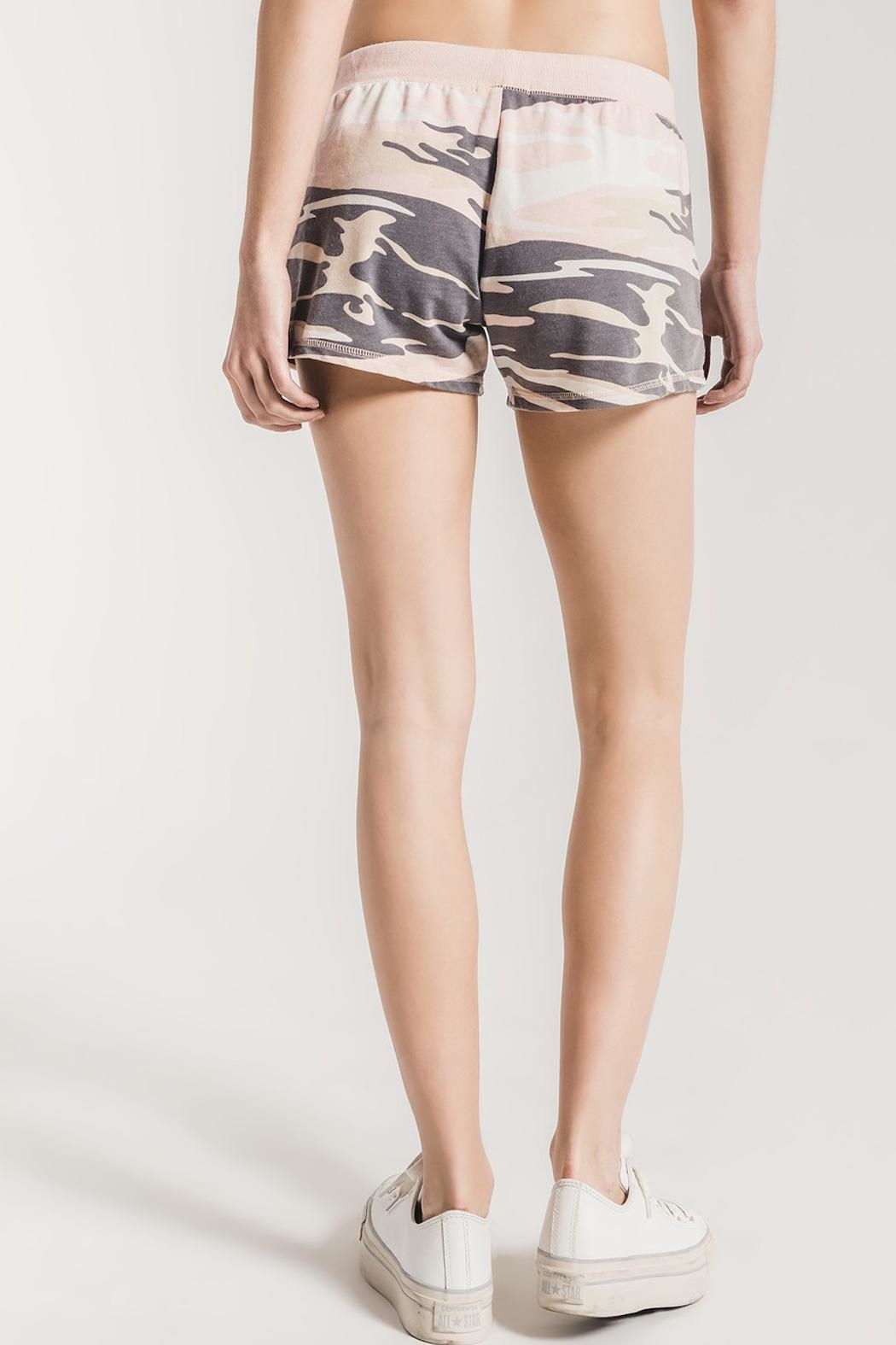 z supply Pink Camo Shorts - Side Cropped Image