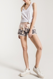 z supply Pink Camo Shorts - Front cropped