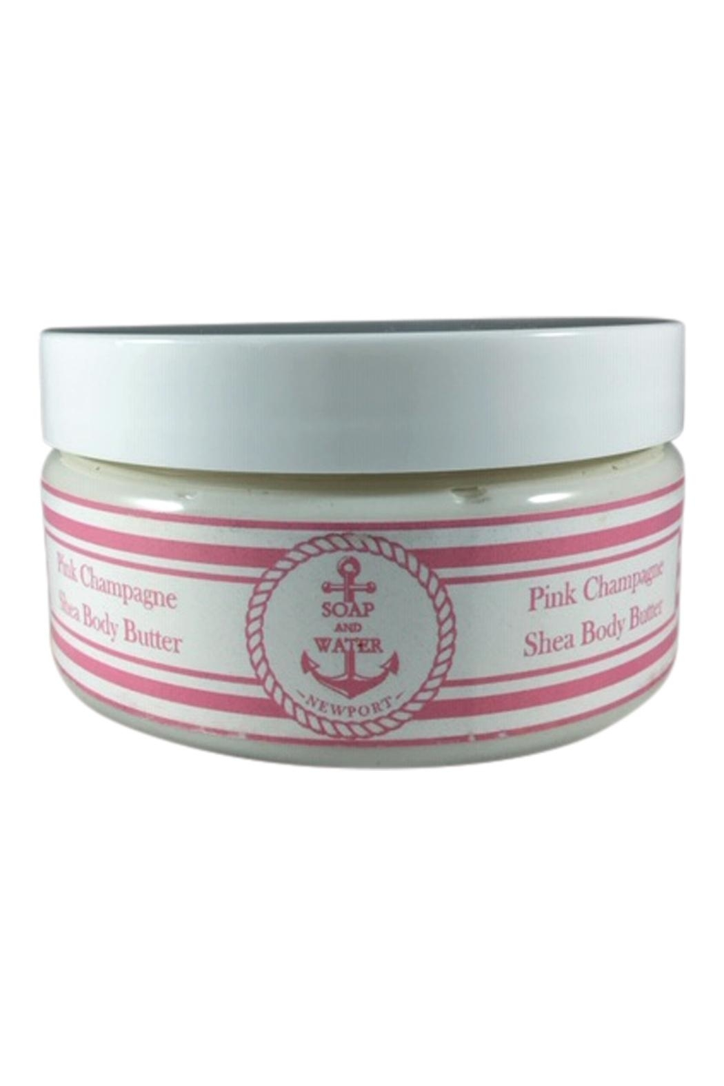 Soap and Water Newport PINK CHAMPAGNE BODY BUTTER - Front Cropped Image