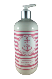 Soap and Water Newport PINK CHAMPAGNE HAND/BODY LOTION - Front cropped