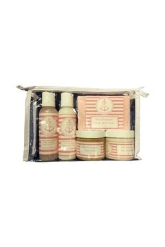 Soap and Water Newport PINK CHAMPAGNE TRAVEL SKINCARE BAG - Alternate List Image