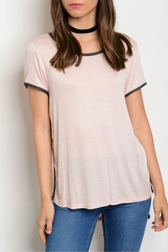 Sweet Claire Pink Charcoal Tee - Product List Image