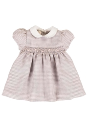 Malvi & Co. Pink Check Dress - Front cropped
