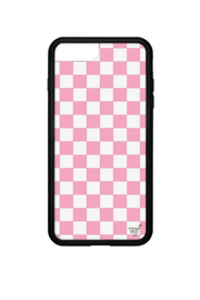 Wildflower Cases Pink Checkers iPhone 6+/7+/8+ Case - Product Mini Image