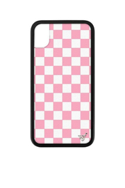 Wildflower Cases Pink Checkers iPhone Xr Case - Product Mini Image