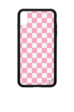 Wildflower Cases Pink Checkers iPhone Xs Max Case - Alternate List Image