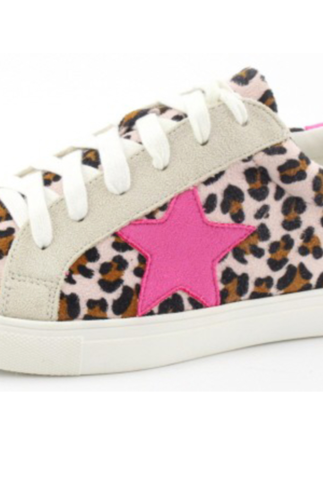 Kindred Mercantile  Pink cheetah star sneaker - Front Cropped Image