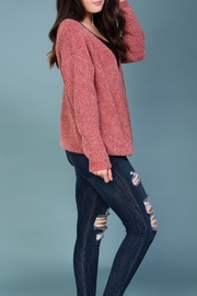 Wishlist Pink Chenille Sweater - Side cropped