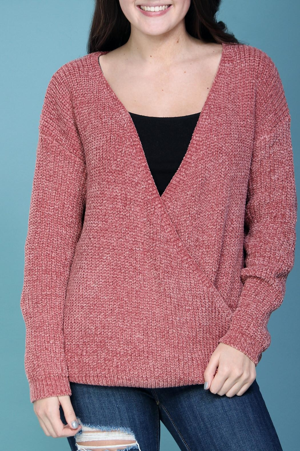 Wishlist Pink Chenille Sweater - Front Full Image