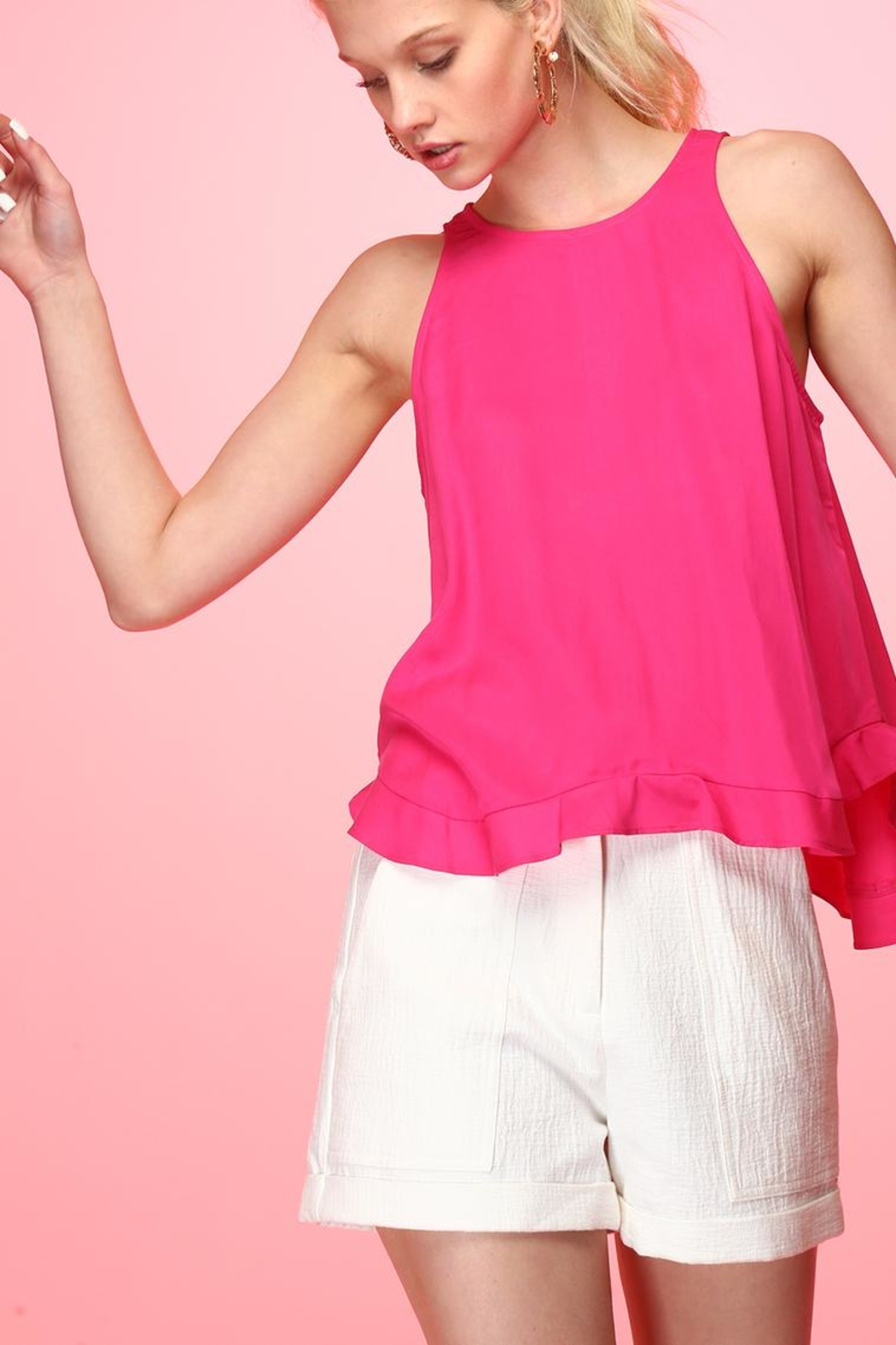 Line & Dot Pink Cherie Top - Main Image