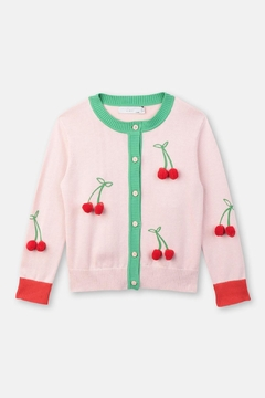 Shoptiques Product: Pink Cherry Cardigan