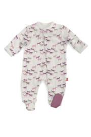 Magnetic Me Pink Cheyenne Wild Horses Footie - Product Mini Image