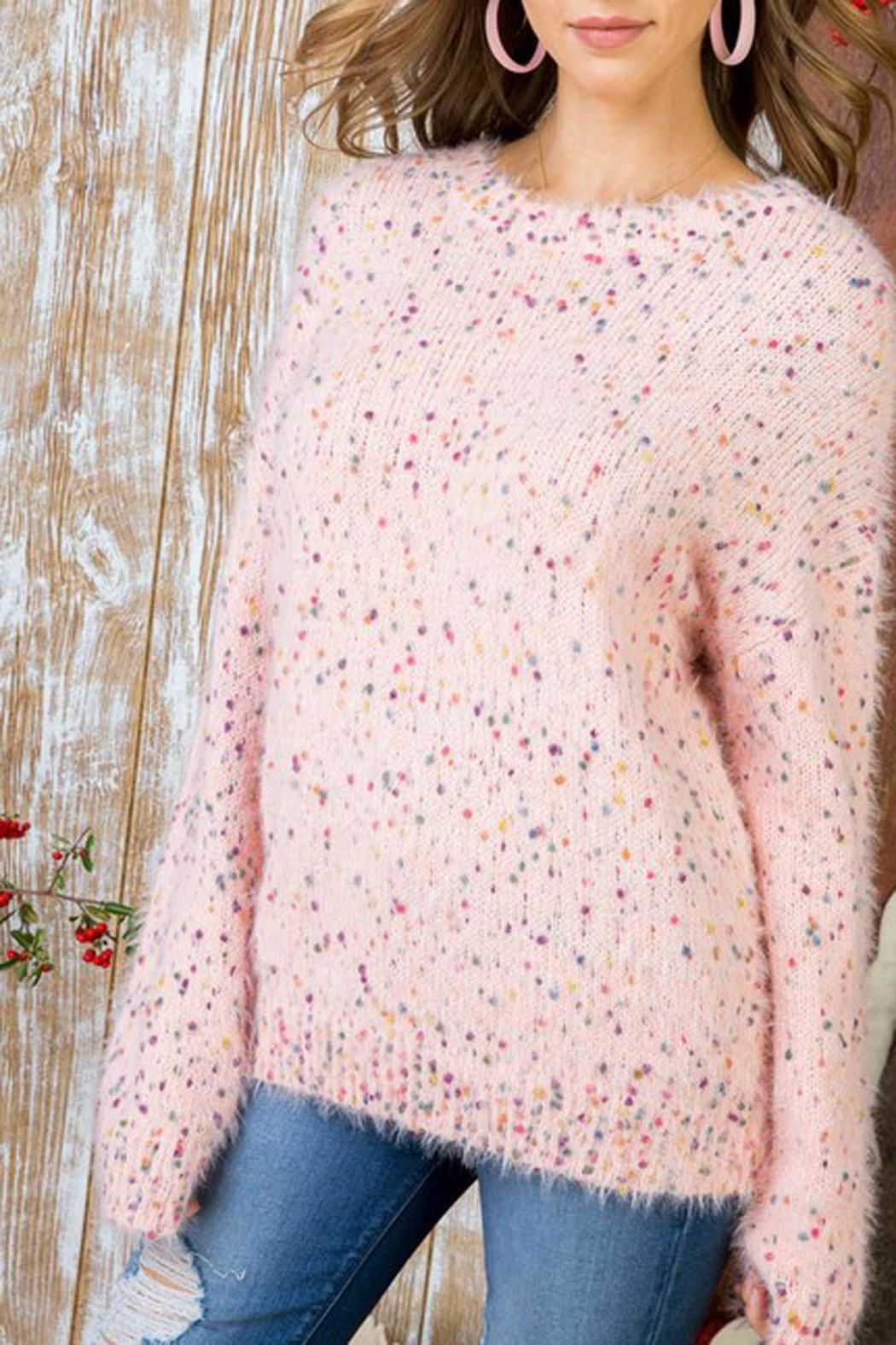 The Vintage Valet Pink Confetti Sweater - Main Image
