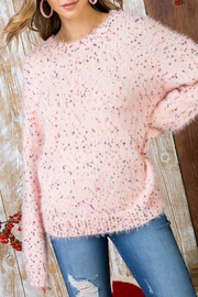 The Vintage Valet Pink Confetti Sweater - Side cropped
