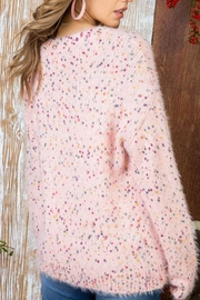 The Vintage Valet Pink Confetti Sweater - Front full body