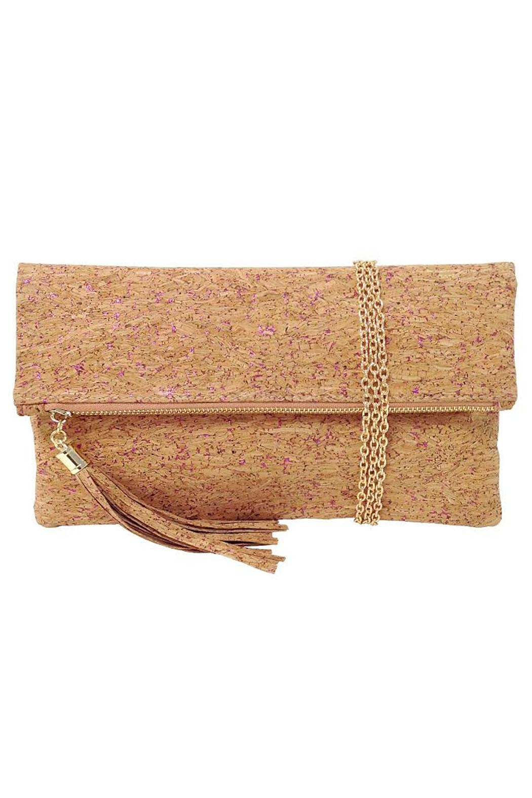 Wild Lilies Jewelry  Pink Cork Clutch - Front Cropped Image