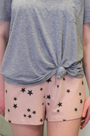 143 Story Pink Cozy Star Shorts - Product Mini Image