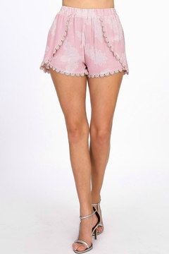 ALB Anchorage Pink Crocet-Ruffle Shorts - Product List Image