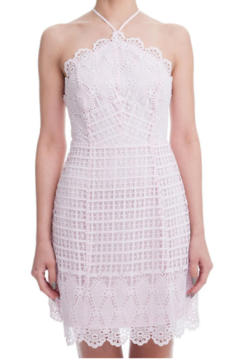 Lush Pink Crochet Scallop Lace Dress - Product List Image