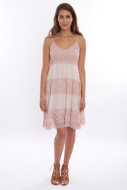 B&K moda Pink Crochet Sundress - Product Mini Image