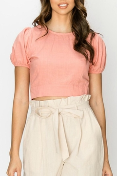 Favlux Pink Cropped Blouse - Product List Image