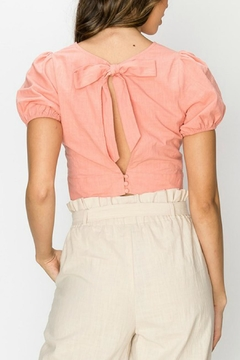 Favlux Pink Cropped Blouse - Alternate List Image