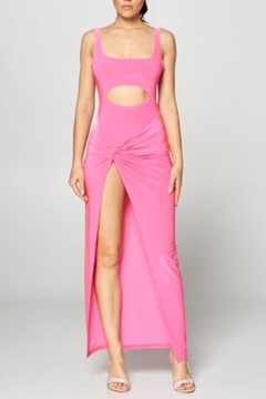 Win Win Pink Cut-Out Dress - Product List Image