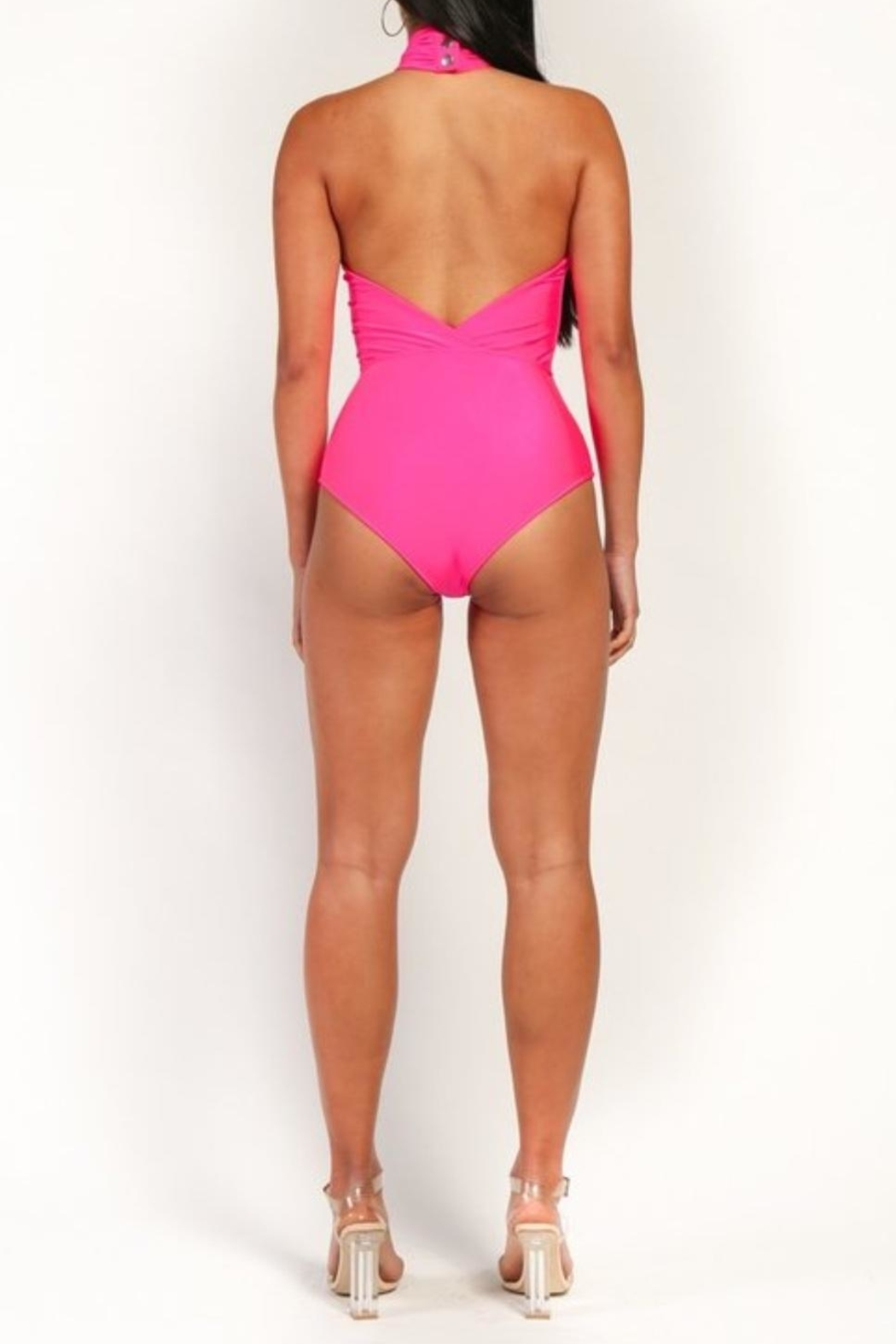 Rehab Pink Cutout Swimsuit - Front Full Image