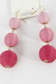 Bag Boutique Pink Dangle Earrings - Product Mini Image