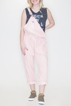 Fantastic Fawn Pink Denim Overalls - Product List Image
